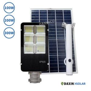 Đèn đường năng lượng mặt trời 100W 200W 300W